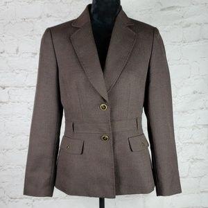 Tahari Arthur S Levine brown blazer size 6